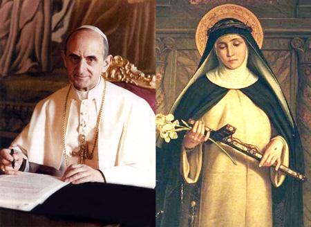 PaulVI et Catherine de Sienne