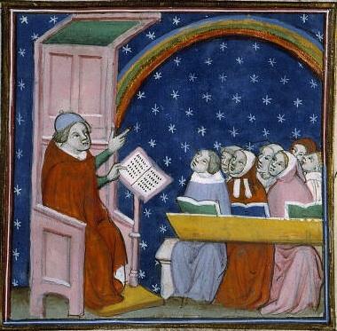 Ecole au Moyen Age