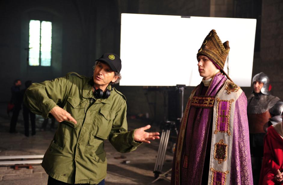 Nicolas Cuche sur le tournage d'Inquisitio - Pierre de Luxembourg