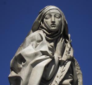 Statue de Sainte Catherine de Sienne